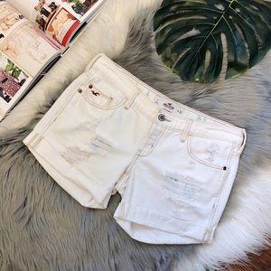 Hollister | Distressed Roll Up Denim Shorts